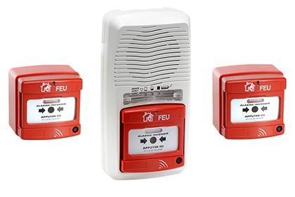 Alarme type 4 radio + 2 déclencheurs