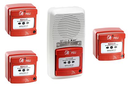 Alarme type 4 radio + 3 déclencheurs
