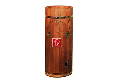 Guérite de protection en bois