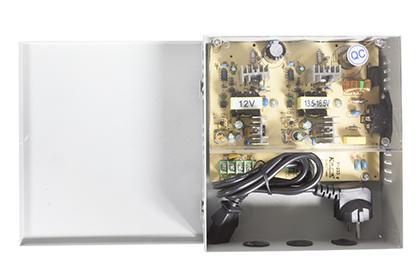 Boîtier d'alimentation 12 volts - 4 sorties - 8 ampères