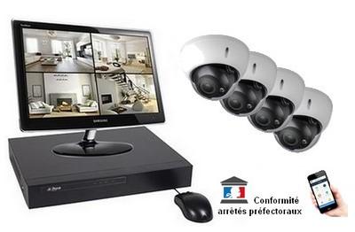 Kit Video Pro IP 4 caméras 4 Mégapixels