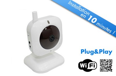 acheter une cam ra de surveillance sans fil wifi en ligne. Black Bedroom Furniture Sets. Home Design Ideas