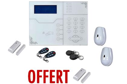 Kit Entreprise alarme sans fil GSM + IP