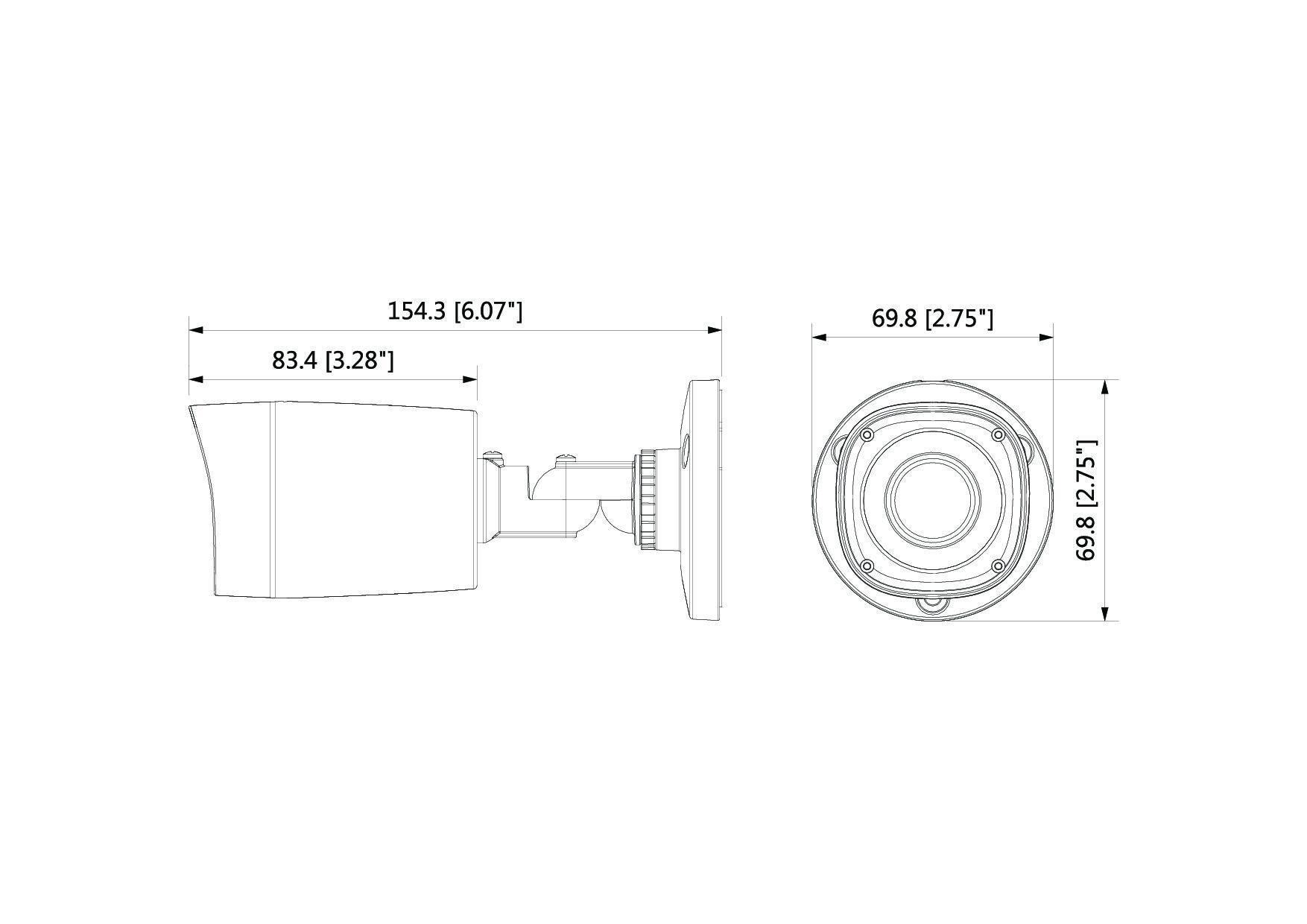 Caméra infrarouge 2 Mégapixels [DAHUA.CVI_HFW1200R-S4(2.8mm)]