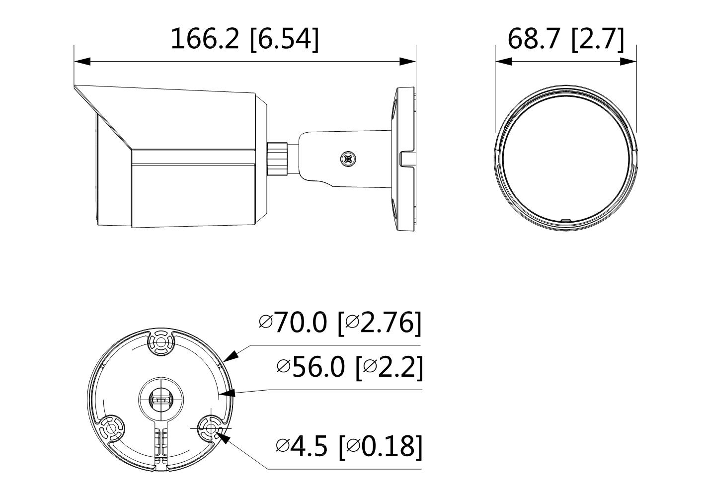 Caméra infrarouge IP 4 Mégapixels [DAHUA.IP_HFW2431S-S-S2(2.8mm)]