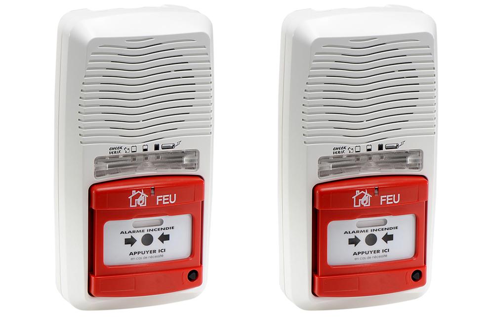 kit 2 alarmes type 4 pile ax11201 ev10. Black Bedroom Furniture Sets. Home Design Ideas