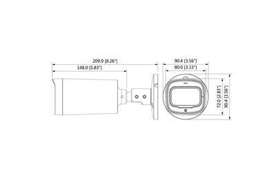 Caméra infrarouge 2 Mégapixels [DAHUA.CVI_HFW1200R-Z-IRE6-S5(2.7-12mm)]