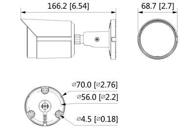 Caméra infrarouge IP 8 Mégapixels [DAHUA.IP_HFW2831S-S-S2(2.8mm)]