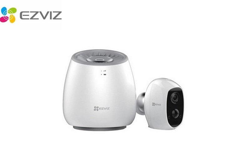 Caméra IP sur batterie sans fil avec base LTE et batterie de secours EZVIZ