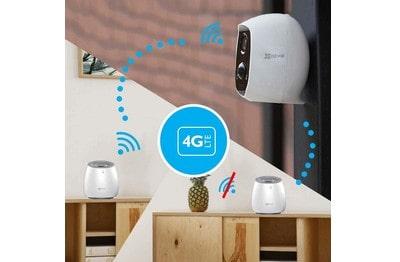 Caméra IP sur batterie sans fil avec base LTE et batterie de secours EZVIZ [EZ-C3A-WLB]