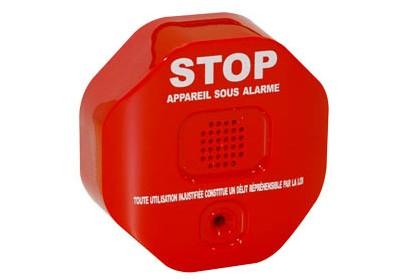 Support alarme antivol extincteur