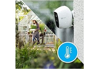 Kit vidéo 2 caméras Wifi 2 Mégapixels et 2 panneaux solaires EZVIZ [KIT.EZVIZ_2SOLAR-2C3A]