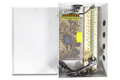 Boîtier d'alimentation 12 volts - 16 sorties - 15 ampères