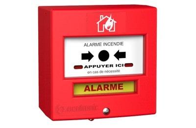 Déclencheur manuel radio rouge pour équipement alarme