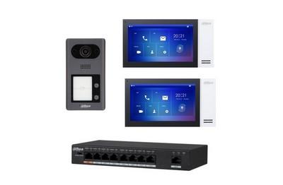 Kit interphonie 2 portes IP PoE