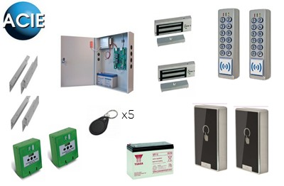 Kit contrôle d accès IP 2 portes secourues