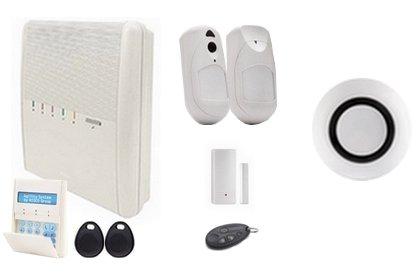 Kit alarme sans fil IP GSM avec levée de doute photo