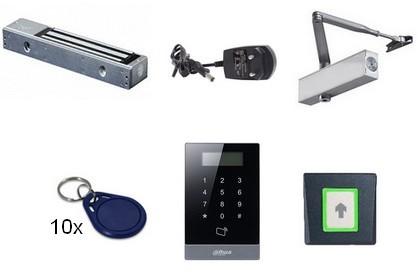 Kit contrôle d'accès Autonome Badge/digicode 1 porte
