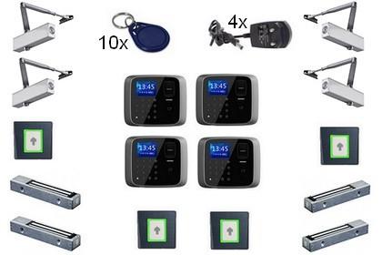 Kit contrôle d'accès Autonome biométrique 4 portes