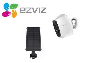 Kit vidéo caméra Wifi 2 Mégapixels et panneau solaire [KIT.EZVIZ_SOLAR-CA3]