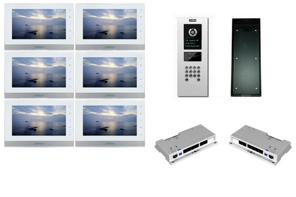 Kit interphone IP 6 appartements