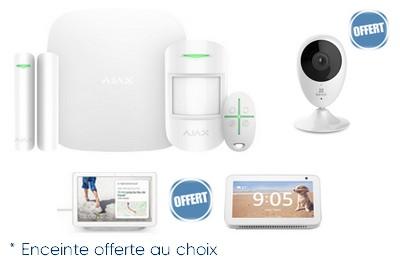 Kit alarme sans fil GPRS/IP avec caméra Wifi et enceinte OFFERTES