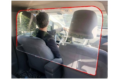 Ecran de protection Taxi / VTC [KAM-03-VTC]