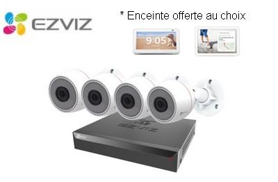 Kit vidéo IP 4 caméras 2 Mégapixels EZVIZ