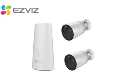 Kit vidéo 2 caméras Wifi avec station de base EZVIZ