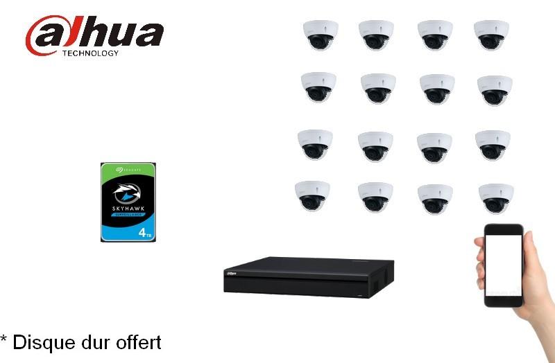 Kit Video Pro IP 16 caméras 4 Mégapixels