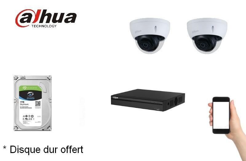 Kit Video Pro IP 2 caméras 2 Mégapixels [KAM-KIT-2BUNDLE-2MP-IP]
