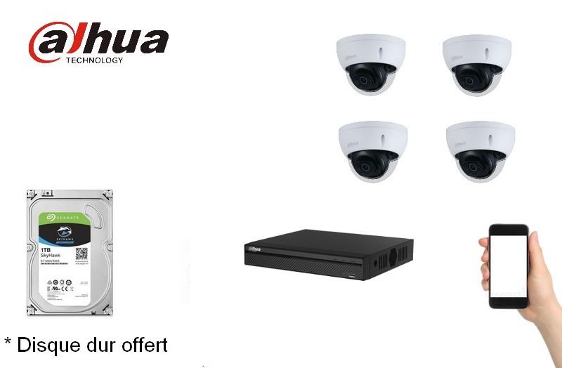 Kit Video Pro IP 4 caméras 2 Mégapixels