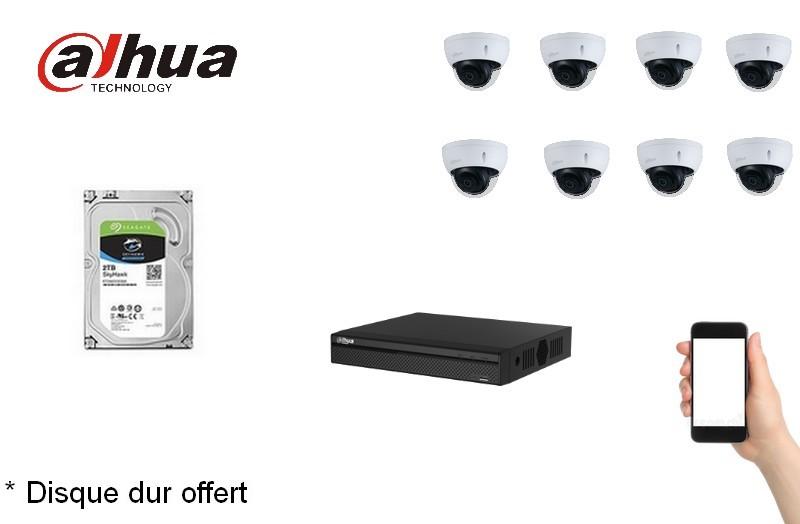 Kit Video Pro IP 8 caméras 2 Mégapixels