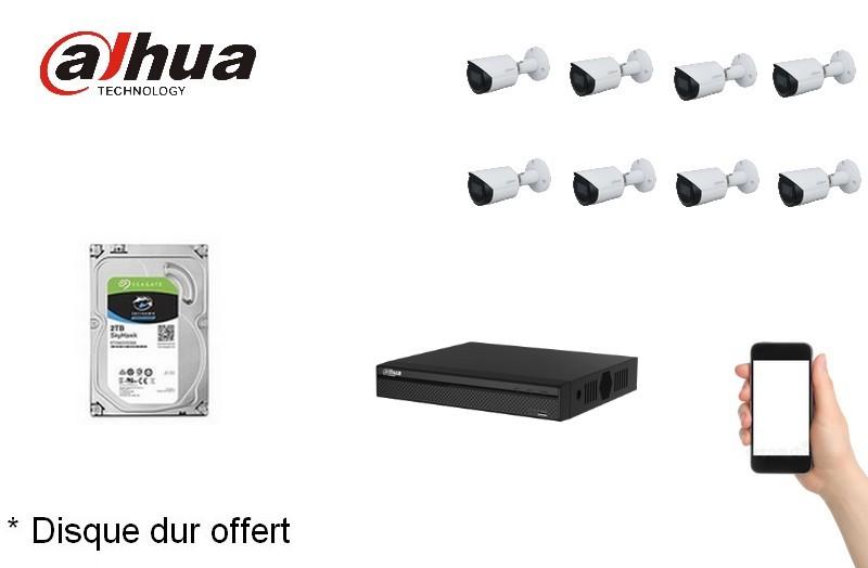 Kit Video Pro IP 8 caméras 2 Mégapixels [KAM-KIT-8BUNDLE-2MP-IP]