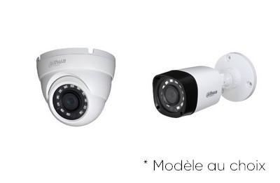 Kit Video Pro HD-CVI 4 caméras 2 Mégapixels [KAM-KIT-4INCLUS-2MP-CVI]