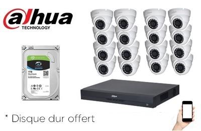 Kit Video HD-CVI 16 caméras 2 Mégapixels  [KAM-KIT-16LEA-2MP-CVI]