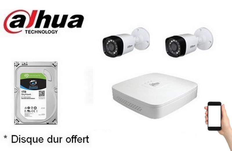 Kit Video Pro HD-CVI 2 caméras 2 Mégapixels [KAM-KIT-2INCLUS-2MP-CVI]