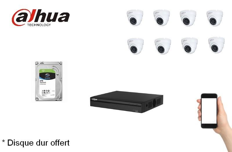 Kit Video Pro HD-CVI 8 caméras 4 Mégapixels