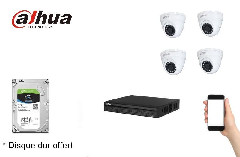 Kit Video Pro HD-CVI 4 caméras 4 Mégapixels