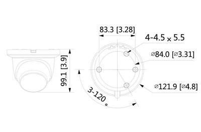 Mini dôme infrarouge IP 4 Mégapixels [DAHUA.IP_HDW3441TM-AS(2.8mm)]