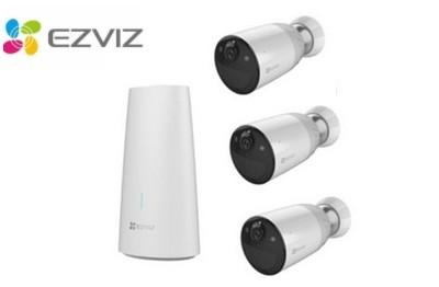 Kit vidéo 3 caméras Wifi 2 Mégapixels avec station de base EZVIZ