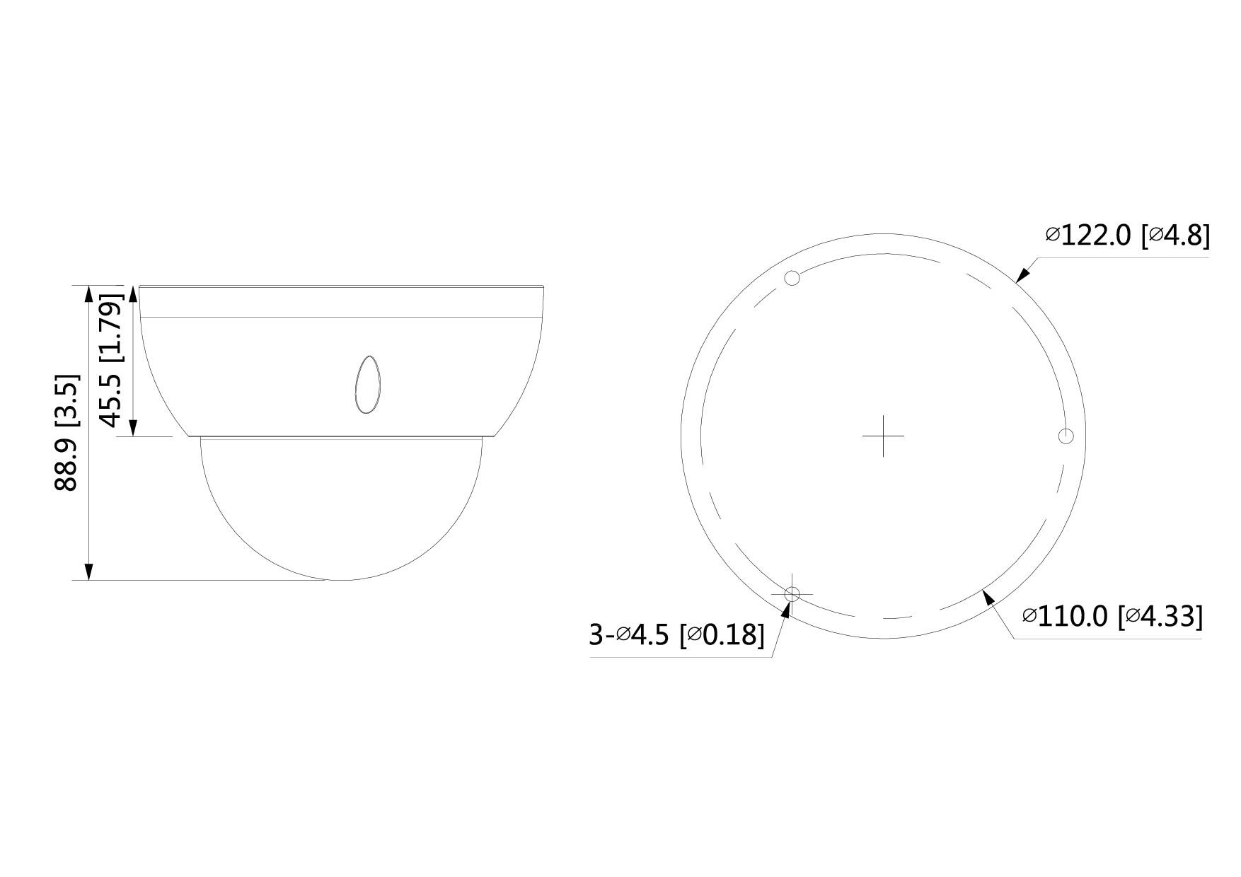 Mini dôme infrarouge 2 Mégapixels [DAHUA_IP.HDBW2231R-ZS-S2]