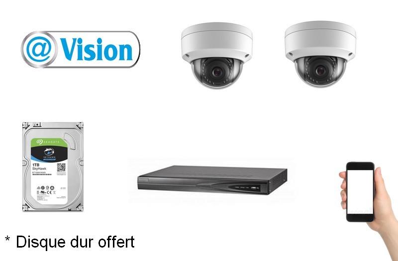 Kit Vidéo Eco IP 2 caméras 2 Mégapixels