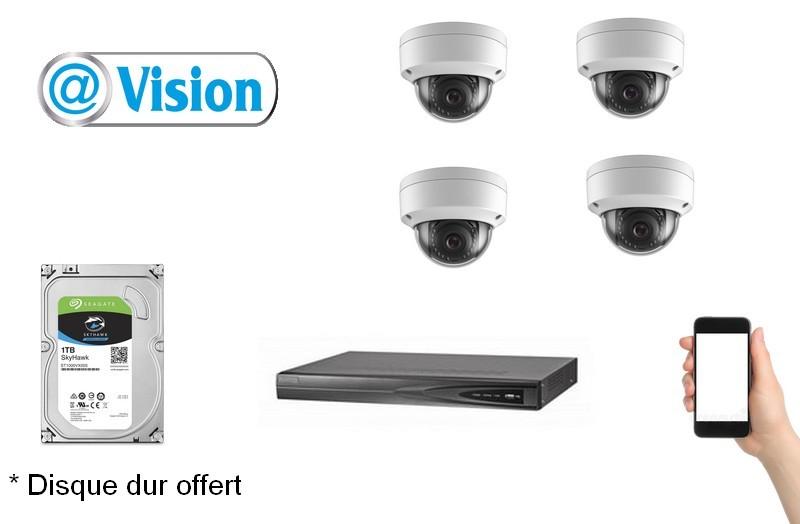 Kit Vidéo Eco IP 4 caméras 2 Mégapixels