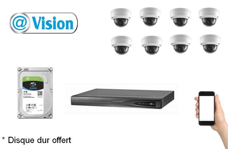 Kit Vidéo Eco IP 8 caméras 2 Mégapixels