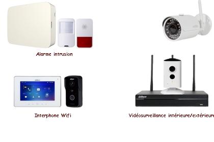 Kit alarme/vidéo/interphone sans-fil
