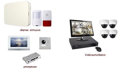 Kit alarme/vidéo/interphone