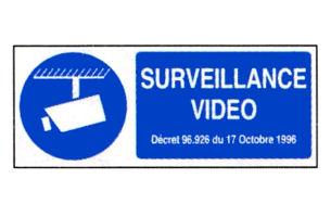 Panneau PVC ''Surveillance vidéo'' - 9x18cm