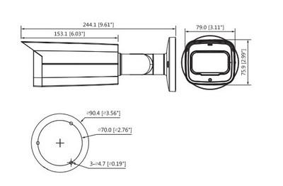 Caméra infrarouge 2 Mégapixels [DAHUA.CVI_HFW2241T-Z-A(2.7-13.5mm)]
