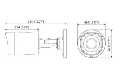 Caméra infrarouge 2 Mégapixels [KAM-CVI-BL2001R]